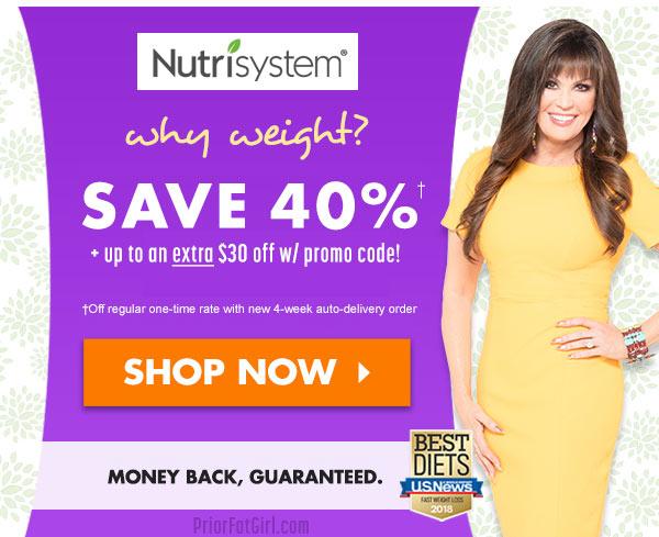 nutrisystem promo code 40
